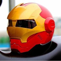 DOT Approved Ironman Motorcycle Skull Open Face Helmet Casco Capacete Flip Up Motorcycle Helmets