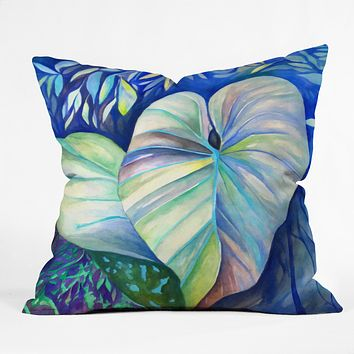 Rosie Brown Summertime Blues Throw Pillow