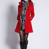 Women's Classy Double Breasted Pea Coat
