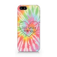 Too Sassy For You Iphone 5C Case, Too Sassy For You Iphone 5C Plastic Case Cover For Iphone 5C-Emerishop (iphone 5C) (M510)