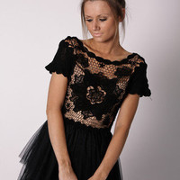 Esther Boutique - estelle lace dress- midnight pre order arrives april 15th
