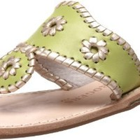 Jack Rogers Women's Palm Beach Platinum Flat Thong