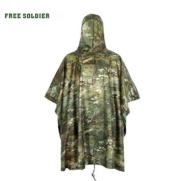 FREE SOLDIER outdoor sports waterproof for cycling riding hiking camping environmental mat men &women's raincover raincoat