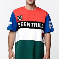 Been Trill ## Tri Color Longline T-Shirt - Mens Tee - White