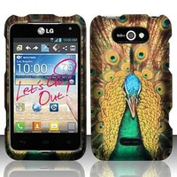 For MetroPCS LG Motion 4G MS770 Rubberized HARD Case Phone Cover Royal Peacock