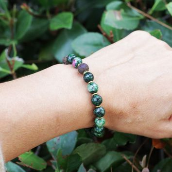 Ruby in Zoisite Essential Oil Bracelet
