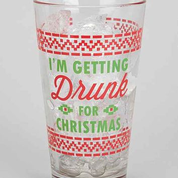 Holiday Jokes Pint Glass- Red One