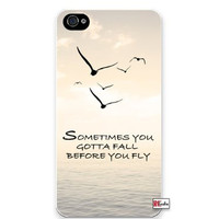 Premium Direct Print Sometimes You Gotta Fall Before You Fly Hipster Quote iphone 6 Quality Hard Snap On Case for iphone 6/Apple iphone 6 - AT&T Sprint Verizon - White Case PLUS Bonus RCGRafix The Best Iphone Business Productivity Apps Review Guide