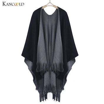 Autumn Winter knitted sweater Women cashmere sweater women Poncho Capes Shawl Swing Cloak Cardigans Sweater Coat drop shipping