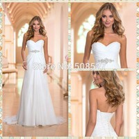 Vestido De Noiva Dress White/Ivory Chiffon Fashionable Wedding Dress Wedding Gowns Vestido Robe De Mariage