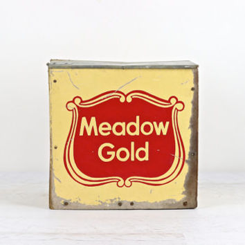 Vintage Milk Box, Meadow Gold Milk Box,
