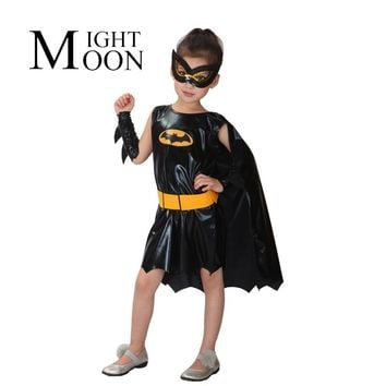 MOONIGHT Girls Bat Halloween Costumes for Kids Batgirl Fancy Tutu Dress Kids Disguise Carnival Party Outfit Superhero Cosplay