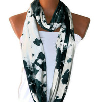 Infinity Scarf,Loop Scarf,Circle Scarf,.Ultra soft..Cowl...Nomad Tube...hand-painted accents