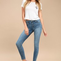 Olivia High-Rise Medium Wash Skinny Jeans