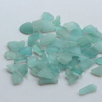 Tiny Light Blue Sea Glass Bulk
