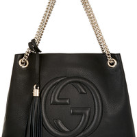 Gucci - Soho medium textured-leather shoulder bag