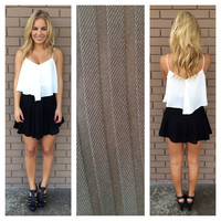 Black Stripe Knit Skater Skirt