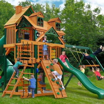 Gorilla Playsets Malibu Deluxe I Wooden Swing Set