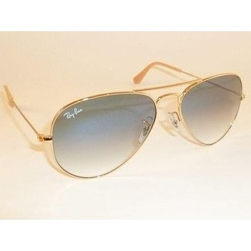 35def18b68444 Cheap New RAY BAN Aviator Sunglasses Gold Frame RB 3025 001 3F G