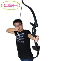 Archery Bows Black Traditional Compound Bow for Adult Outdoor Sports Hunting Shooting Games Sling Shot Bow Accessories