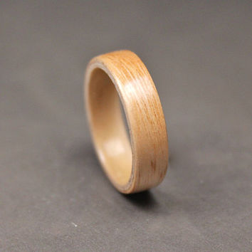 Wood Ring, Bamboo Ring, Bentwood Ring, Womens Wood Wedding Band, Eco Ring, Eco Jewelry.