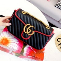 Free Shipping-GUCCI Marmont Tide brand women's shoulder bag Messenger bag handbag