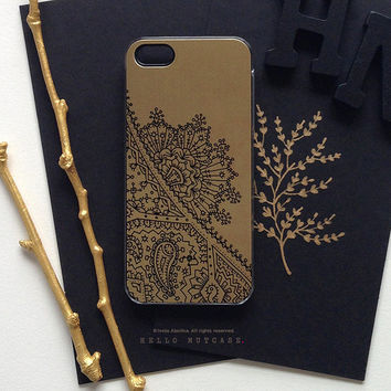 iPhone 5 Gold Metallic Case, iPhone 5s Black Lace Case, iPhone 4 Paisley Case, iPhone 4s Case, Floral iPhone Case, TOUGH iPhone Cover M11