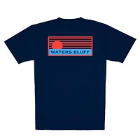 Traveler Simple Pocket Tee in Navy by Waters Bluff