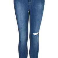 MOTO Blue Ripped Knee Skinny Jeans