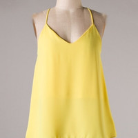 HERE COMES THE SUN Yellow Sleeveless Tank Top Shop Simply Me Boutique – Simply Me Boutique