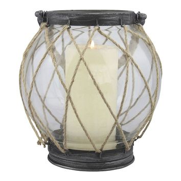 Stonebriar Collection Vintage Nautical Globe Lantern (Brown)