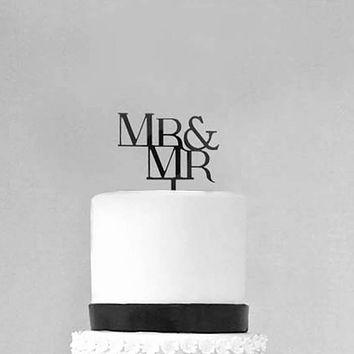 Mr and Mr Wedding Cake Topper Groom and Groom Gay Premium Cake Topper