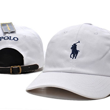 Cool White Polo Ralph Lauren Classic Chino Sports Cap