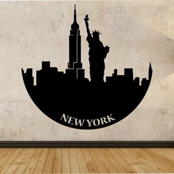 New York Statue Of Liberty Wall Decal Sticker Art Decor Bedroom Design Mural City modern