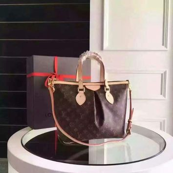 Lv Louis Vuitton Women's Monogram Canvas Palermo Handbag Shoulder Bag