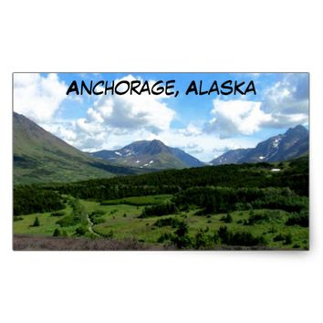 Anchorage Alaska Rectangular Sticker