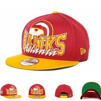ONETOW Atlanta Hawks Nba Cap Snapback Hat - Ready Stock