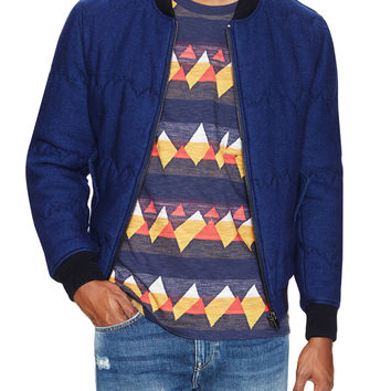 Levi's Made & Crafted Men's Quilted Mountains Bomber Jacket - Blue -