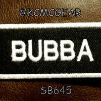 BUBBA White on Black Small Badge Patch for Vest jacket SB645