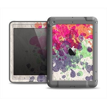 The Vintage WaterColor Droplets Apple iPad Air LifeProof Fre Case Skin Set