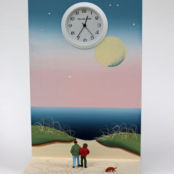 Walking my Owners by Pascale Judet: Painted Clock | Artful Home
