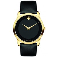 Men's Movado Museum Classic Black Dial and Strap Watch