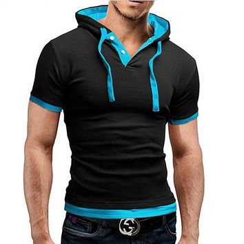 Mens Polo Shirt Short-Sleeve Solid Poloshirt Men Polo Homme Slim Mens Clothing Camisas Hooded Camisa Polo Shirt