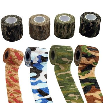 5m*5cm Outdoor Hunting Camo Stretch Bandage Shooting Cycling Tape for Gun Camo Wrap Rifle/Gun Hunting Camouflage Stealth Taps