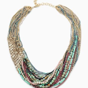 Mae Statement Necklace | Stell...