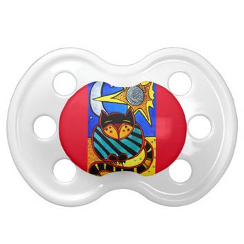 Sun And Moon Colorful Cat Design Pacifier