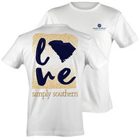 Simply Southern South Carolina Preppy State Love Pattern T-Shirt