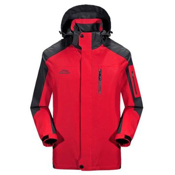Fall Thin Breathable Windproof Water Repellent Climbing Hooded Jackets for Men