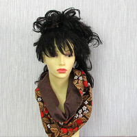 Red and Brown Cowl Women Strawberry Scarf Unique Cowl Spring Accessories Women Fashion