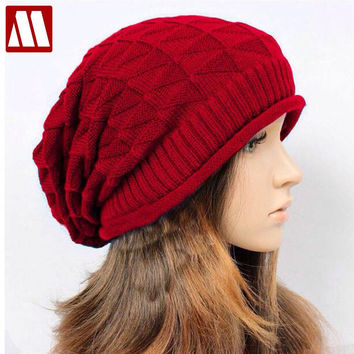 New Autumn beanie winter Knitting Wool Hat Casual Unisex Caps Man's and women's Beanies Knitted warm